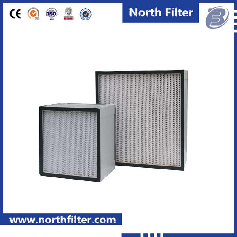 Aluminium Profile Frame Deep Pleat Filter Box HEPA Air Filter
