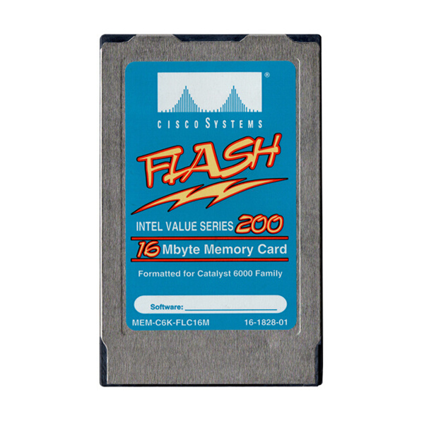 Intel Value Series 200 Cisco 16MB Flash PCMCIA Memory Card