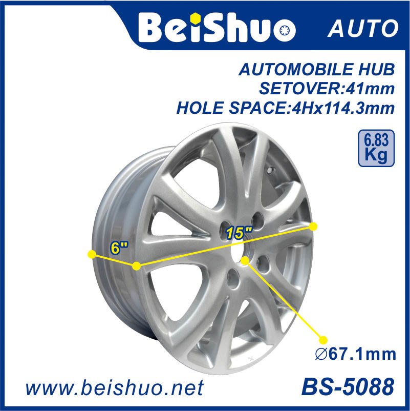 Alloy Wheel Hub Rim with Silver Surface