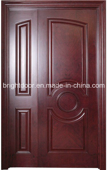 China waterproof teak wood main flush entry door models for Door models for house