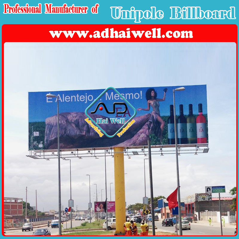 Double Side Outdoor Column Galvanized Steel Structure Advertising Display Billboard (W18 X H6)