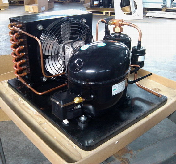Purswave Wq110hc 1/3HP R134A Compressor Condensing Units for Commercial Refrigerator with Lbp Compressor Condenser Motor Fan Fiter Drier Receiver