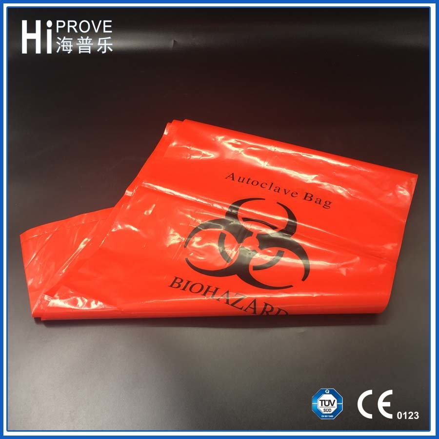 Red/Yellow Polyethylene Biohazard Infectious Medical Autoclave Clinical Waste Bags