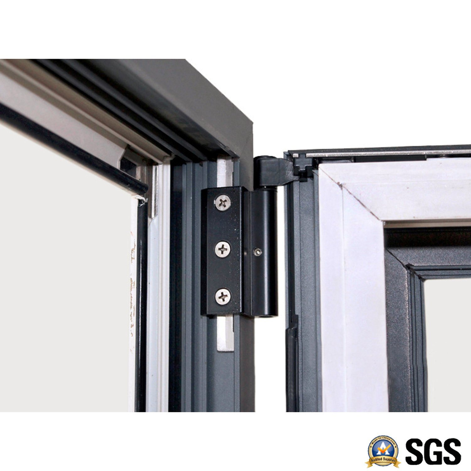 Grey Color Electrophoresis Surface Treatment Aluminium Casement Windows K04001