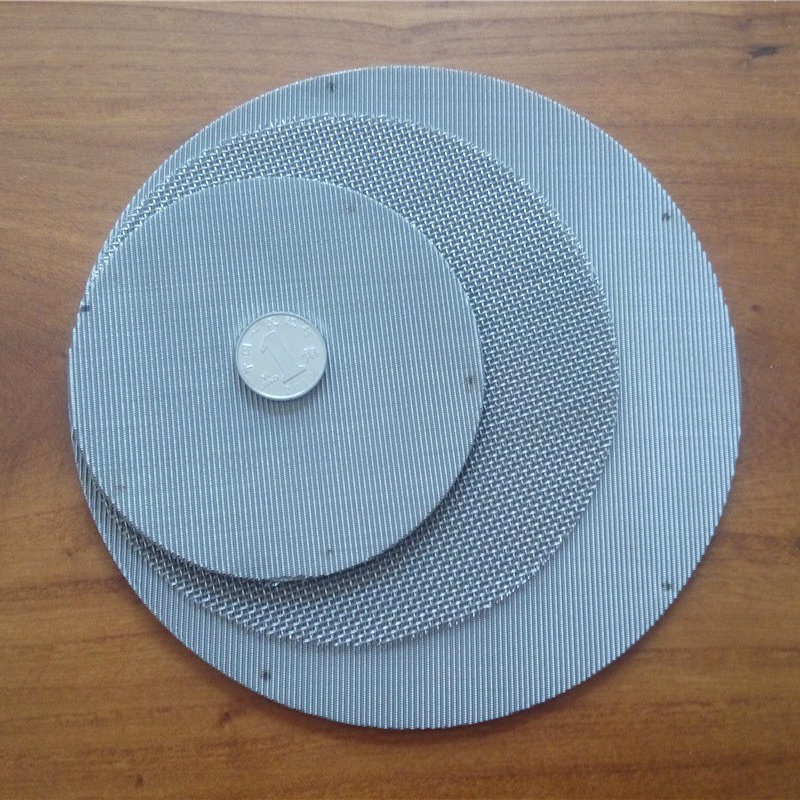 100 Mesh, 0.10 mm Wire, Ss304 Filter Disc Screen, Extruder Screen, Filter Pack