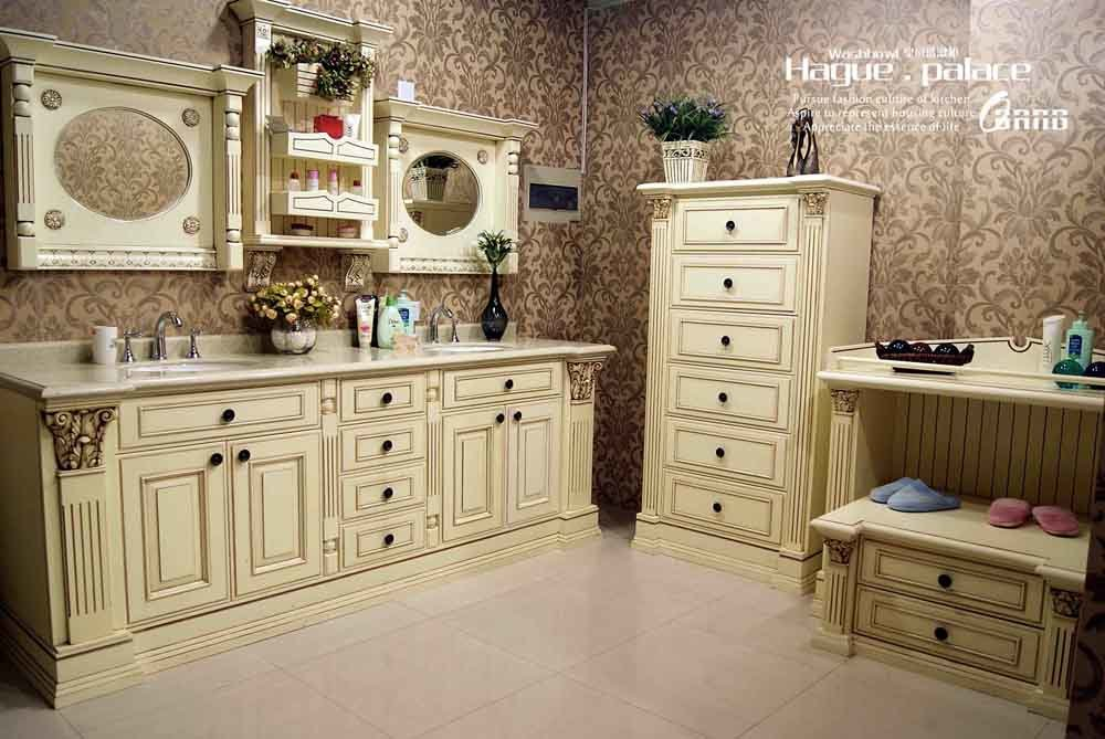 China high end solid wood bathroom vanity hp bv1 china for High end vanities