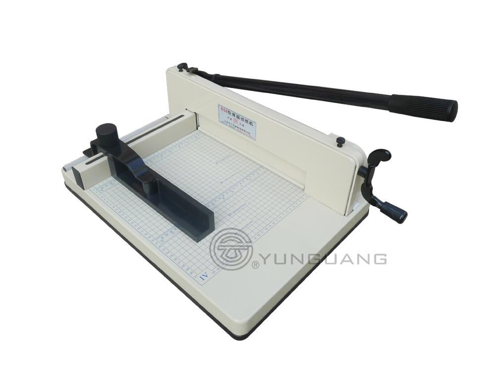 Heavy-Duty Manual Guillotine Desktop Stack Manual Paper Cutter Machine (YG-858A4)