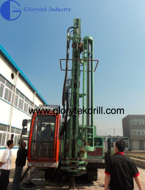 30m Blasthole DTH Drilling Rig with Air Compressor