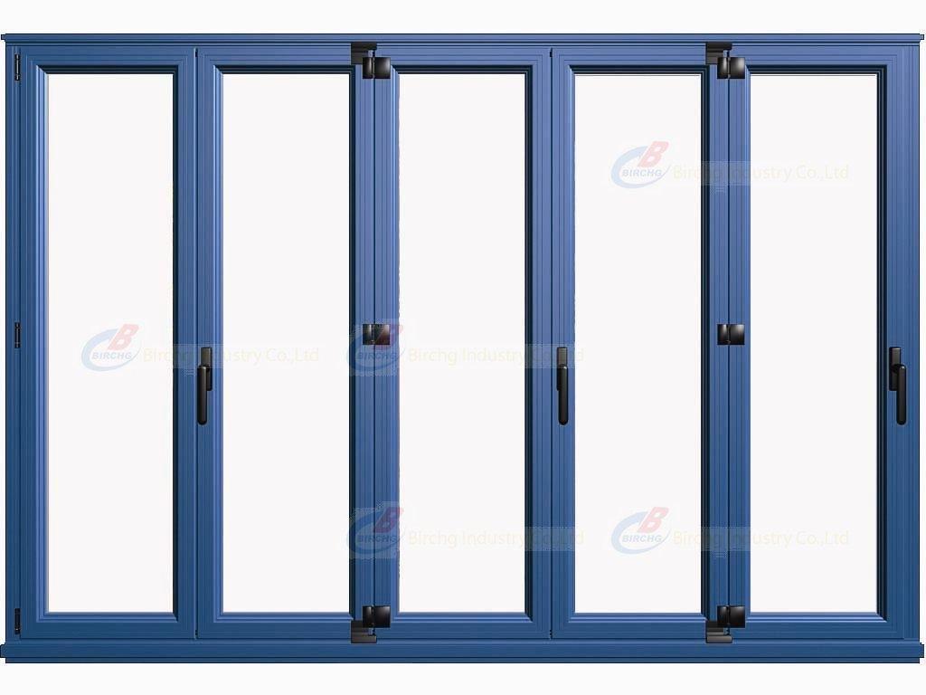 Pvc Folding Patio Doors Plastic View Hongyu