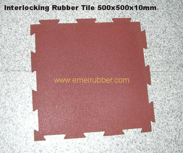 Interlock Rubber Mat/ Interlocking Rubber Mat