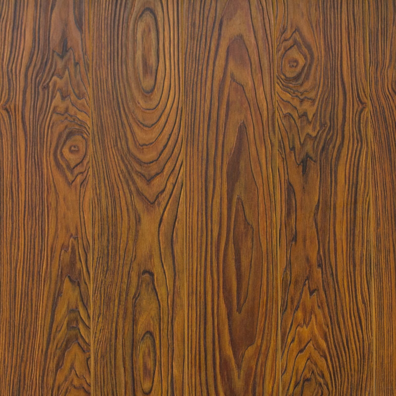 V Goove at Four Side Paint Synchronized Vein Laminate Flooring 7707