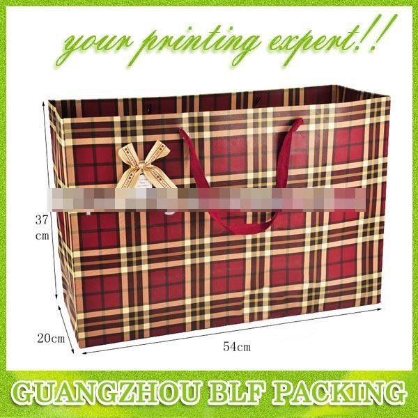 Custom High Quality Paper Bag Shopping (BLF-PB001)