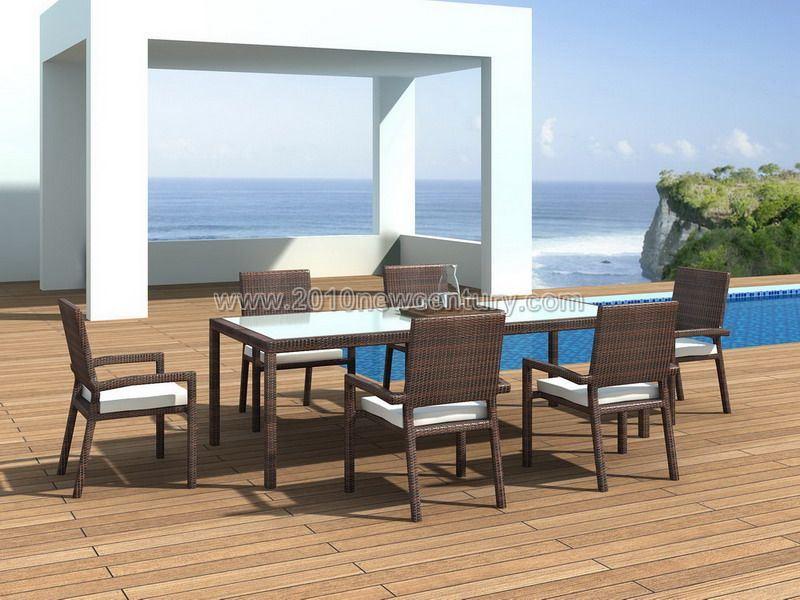 Rattan Table Chair Set (7111)