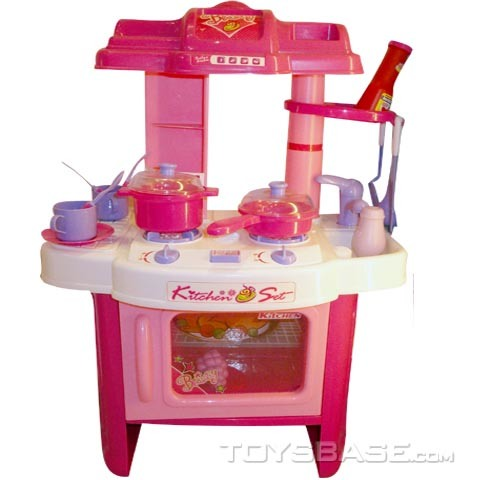 China kids plastic toy kitchen set kitchenware toy for Toy kitchen set