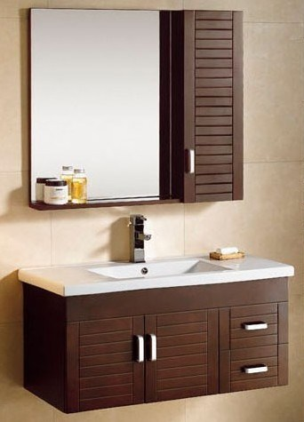 Wall Mounted Wooden Bathroom Vanity  China Bathroom Vanity, Bathroom
