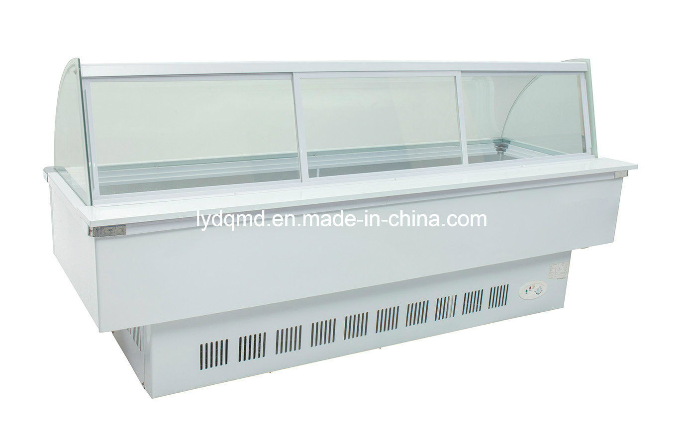 Curved Use Frozen Food Display Cabinet Freezer Sqc-6.0bz