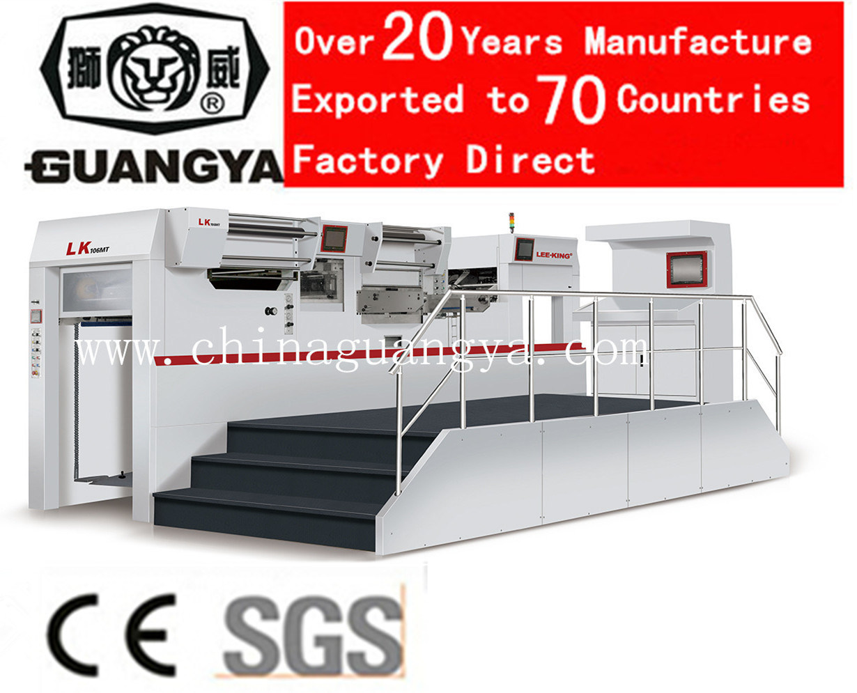 Automatic Foil Stamping and Die Cutting Machine with 5 Group Foil Feed (LK106MT)