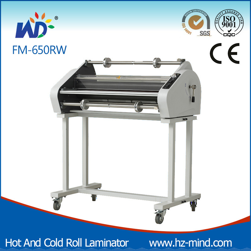Professional Manufacturer (FM-650RS) Double Side Laminating Cold and Hot Roll Laminator