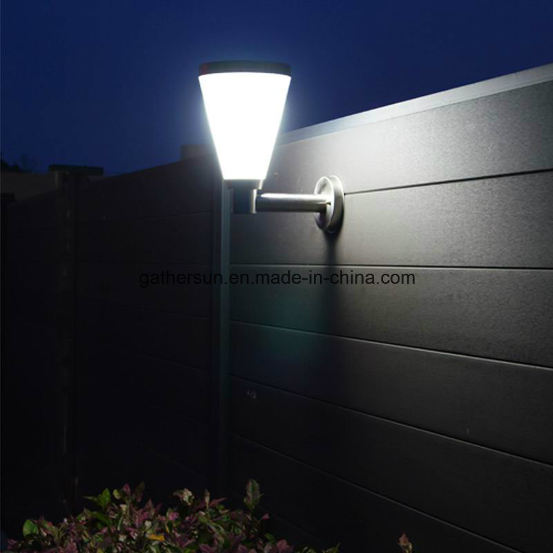 Solar Wall Light with Plastic Lampshade