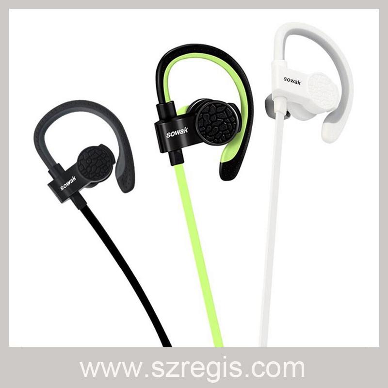Wireless Bluetooth Stereo Hanging Sports Earphone Headphones