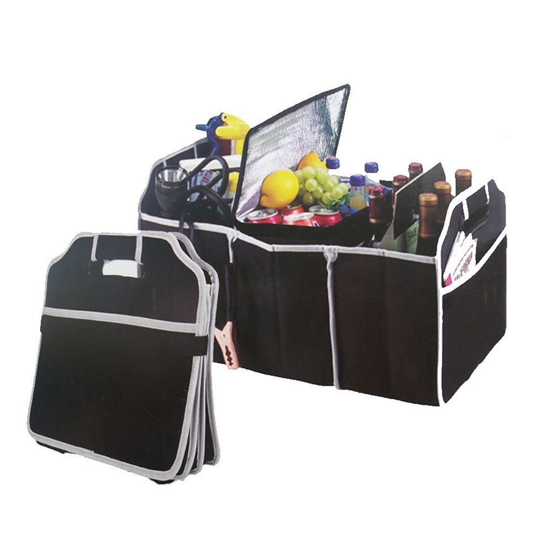 Car Boot Trunk Storage Organiser Foldable Canvas Tidy Bag