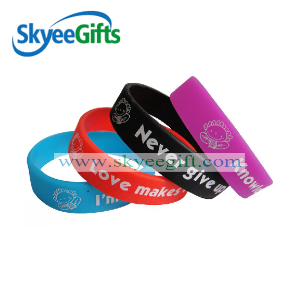 Silicone Wristband with Custom Logo