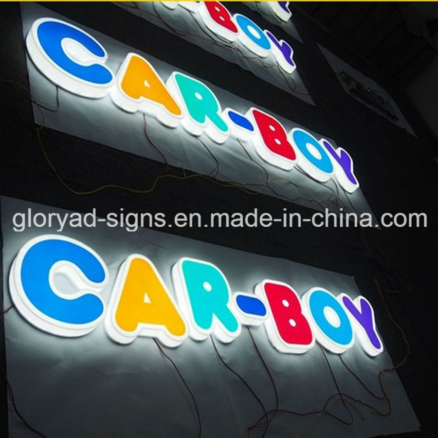 Acrylic Frontlit and Backlit Letters for Shop Sign