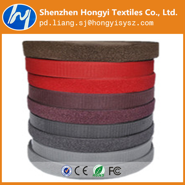 Colorful Nylon/Polyester Elastic Band Hook & Loop for Shoes