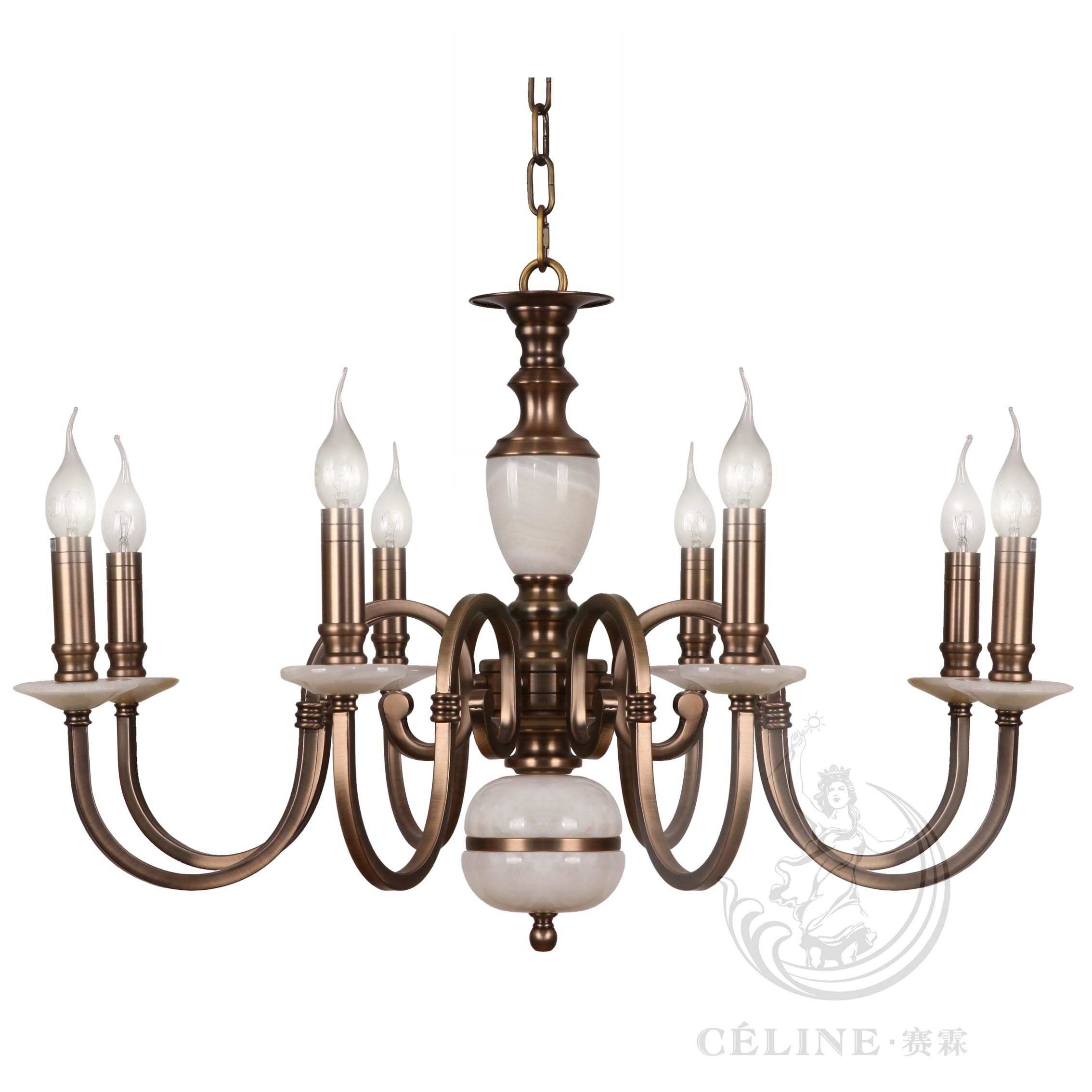 China chandelier with marble golden iron pendant lighting fixture chandelier with marble golden iron pendant lighting fixture sl2260 6 arubaitofo Image collections