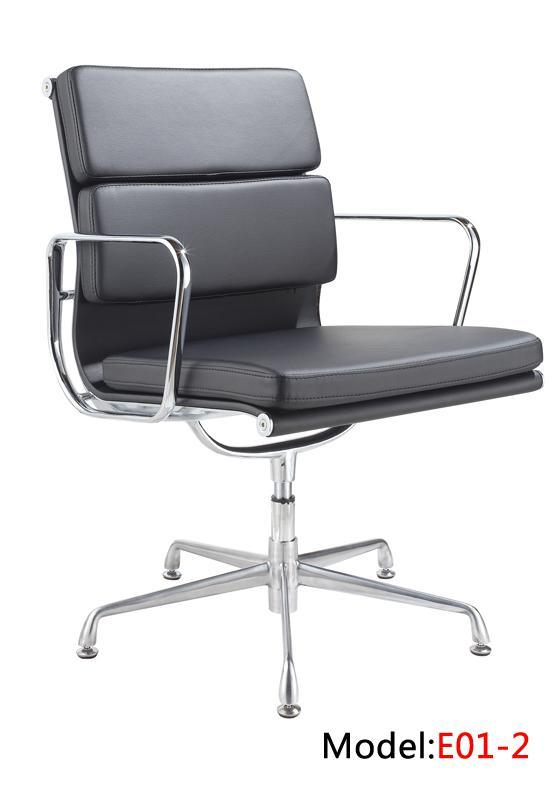 Eames Leather Office Furniture Aluminium Hotel Meeting Office Chair (E01-2)