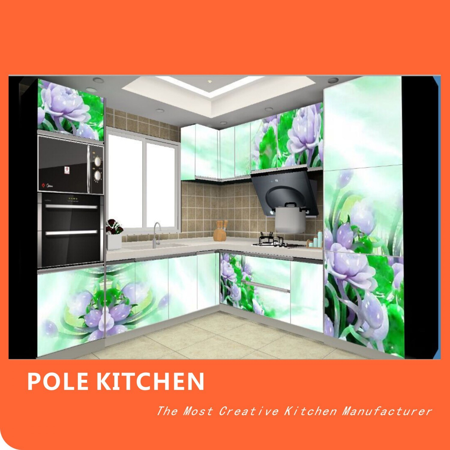 China customized high gloss 3d print kitchen cabinet for 3d printing kitchen cabinets
