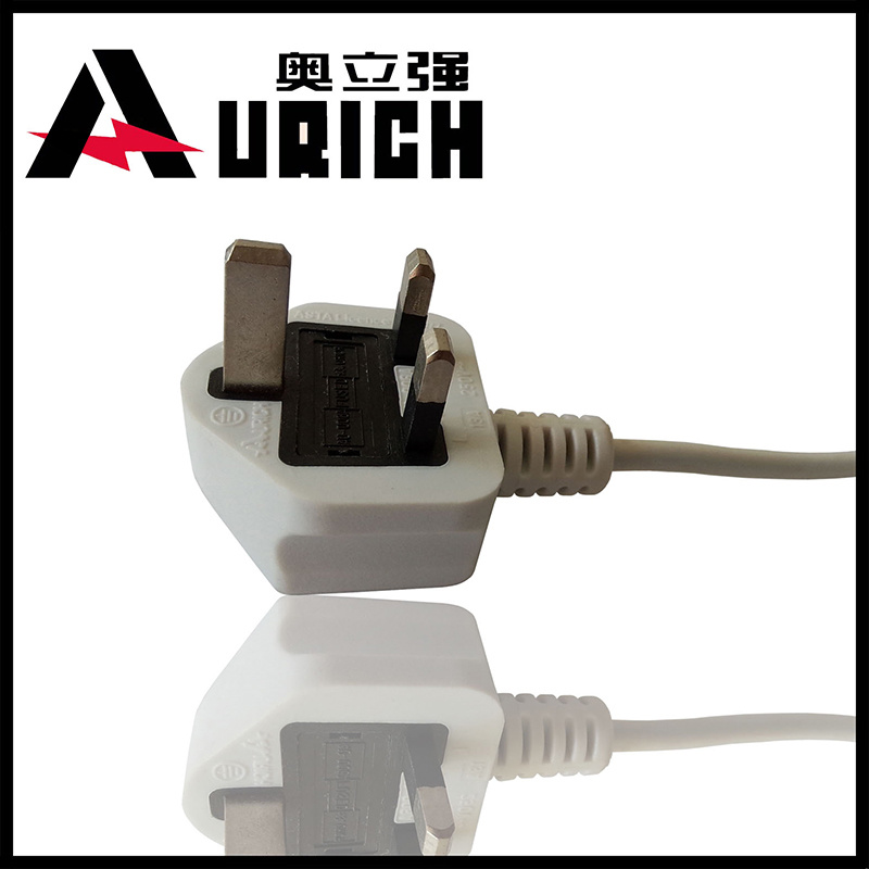 UK 3-Pin Power Cord Plug with VDE Certificate