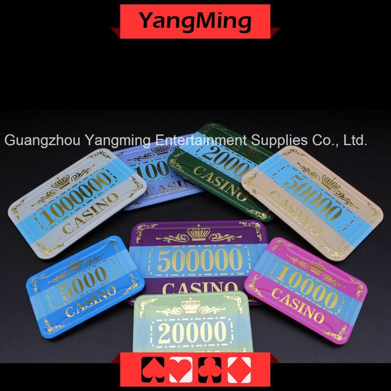 Crown Bronzing Poker Chip with UV Light (YM-CP003-004)