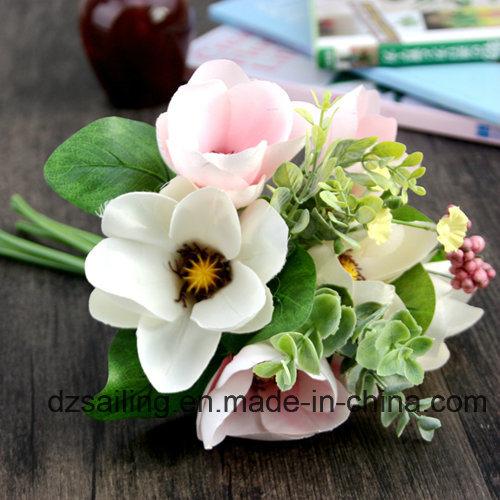 Decoration Artificial Flower of Magnolia Bouquet (SF15676)