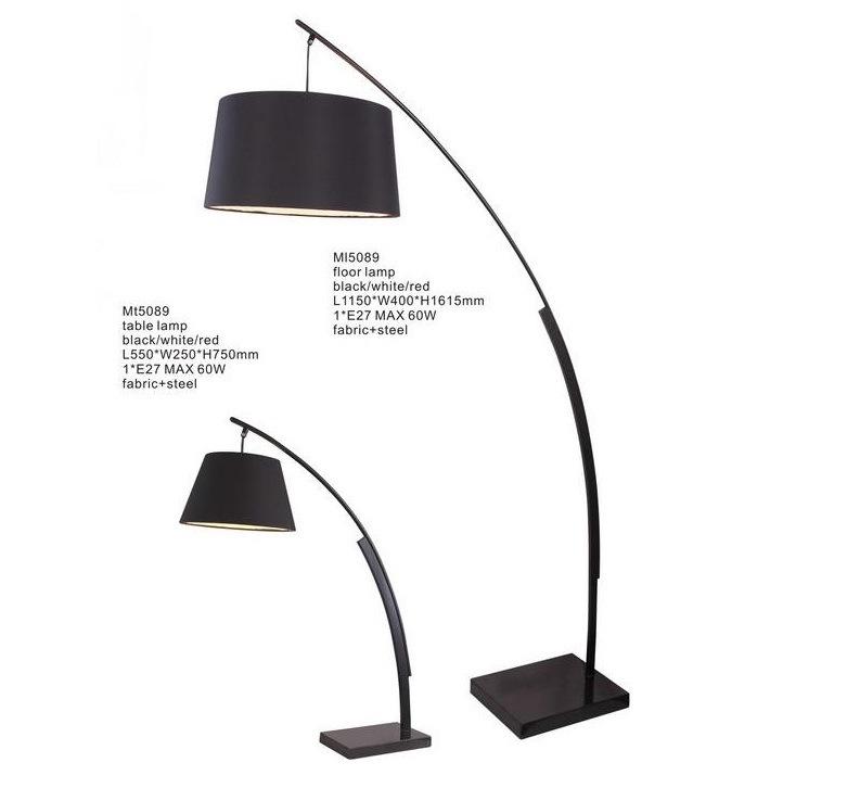 Hotel Black Shade Steel Floor Lights (KAML5089)
