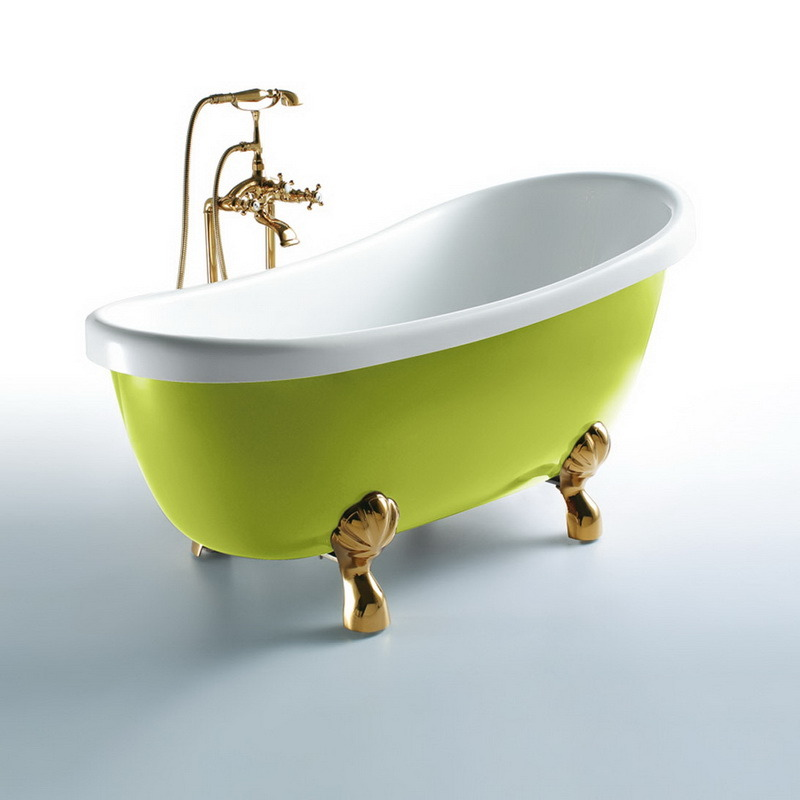 Oppein America Style Simple Acrylic Bathtub (OP-W554)