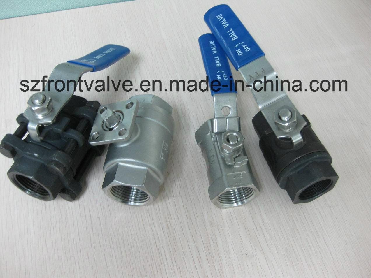 investment casting ss screwed ball valve