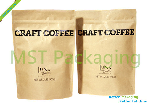 Kraft Paper Coffee Bag/Stand up Pouch with Zipper/ Coffee Bag with Window