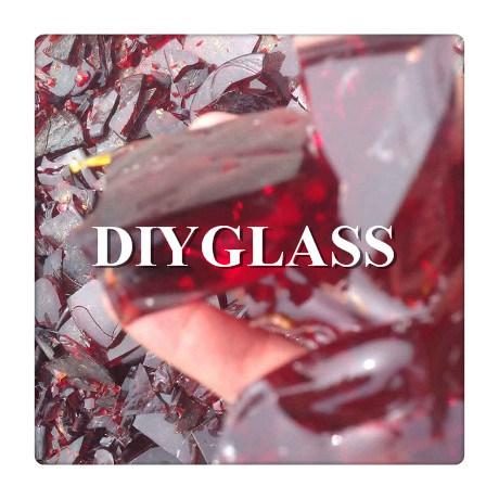 Red Broken Glass Scrap