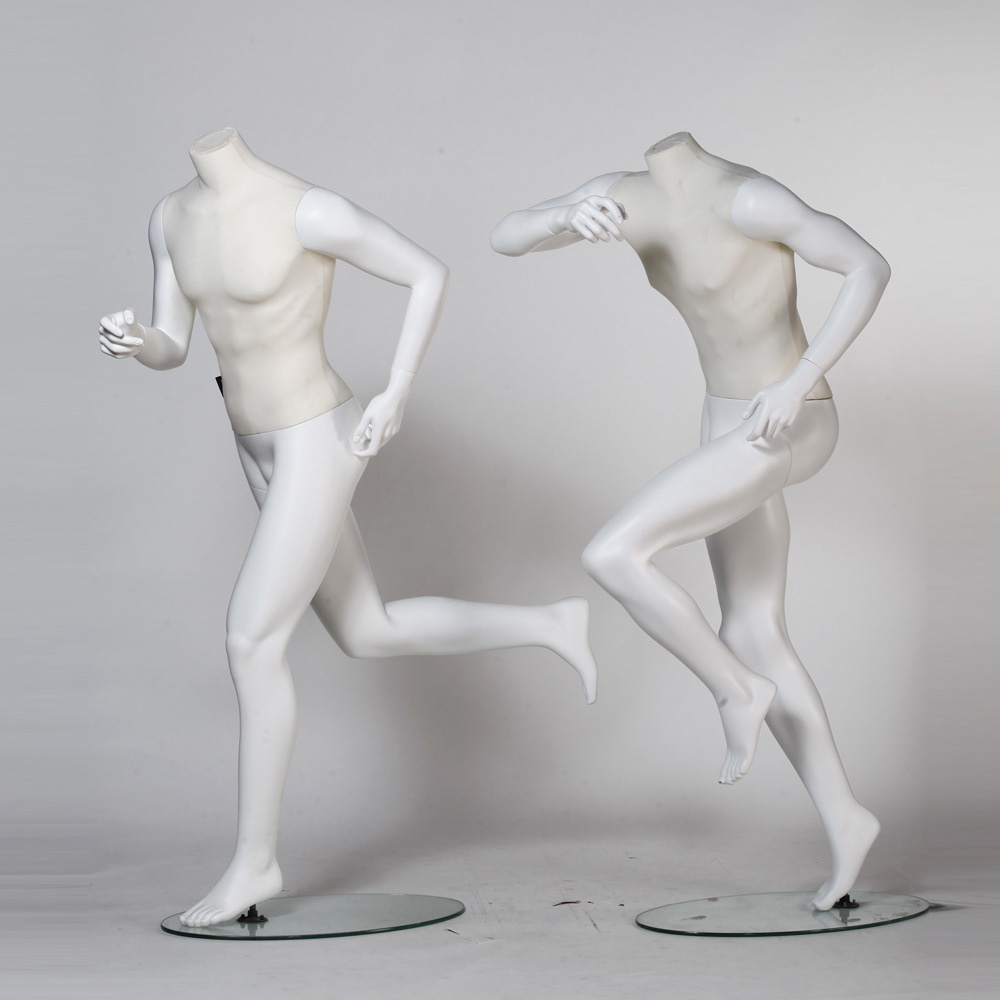 Running Sport Male Mannequin with Linen Wrapped