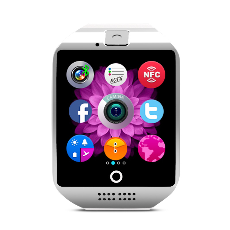 Smart Bluetooth Watch Phone Arc Screen Sync ISO Android Phone Q18