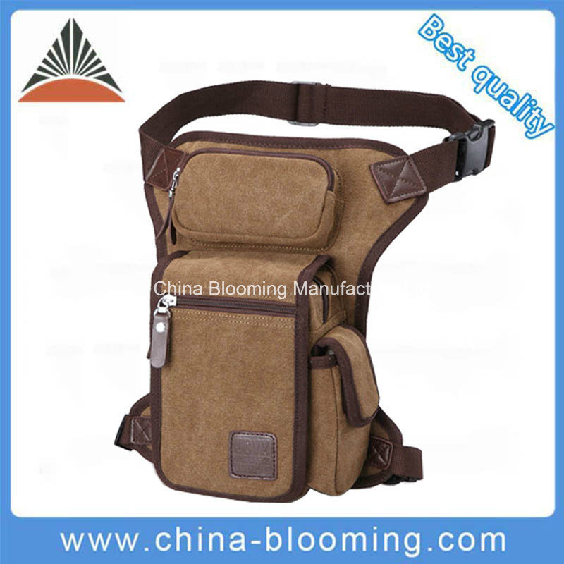 Men Canvas Military Rider Saddlebag Fanny Pack Belt Waist Bag