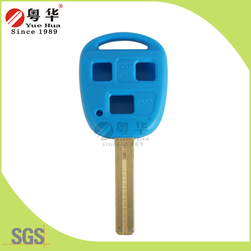 High Quality New Product - 3 Button Flip Remote Color Key Blank (Blue Color)