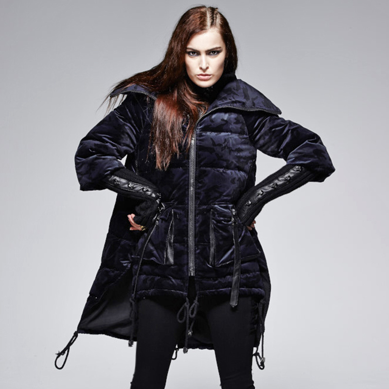 Py-130 Gothic Winter Knitwear Double Collar Winproof Camouflage Down Jacket