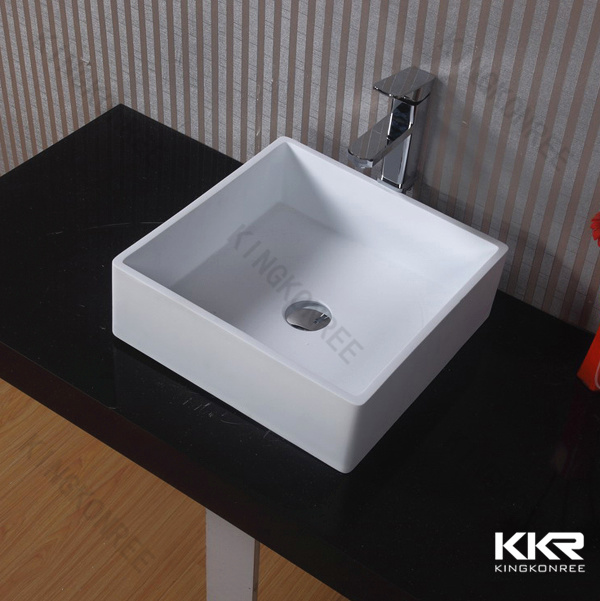 Resin Stone Wash Basin, Square Small Sizes Hand Wash Basin