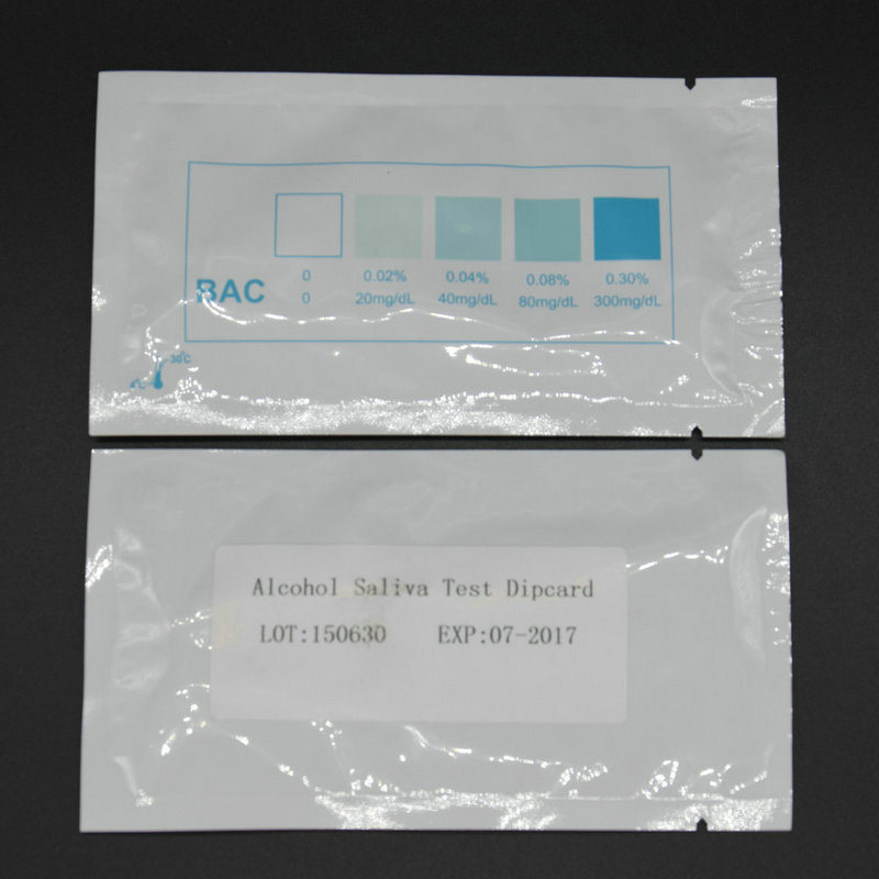 Ce Marked One Step Rapid Alcohol Urine/Saliva/Breast Milk Test Strip