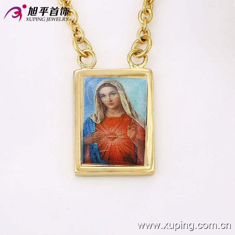 42844 Fashion Cool 14k Gold-Plated Human -Designed Alloy Copper Imitation Jewelry Pendant Necklace