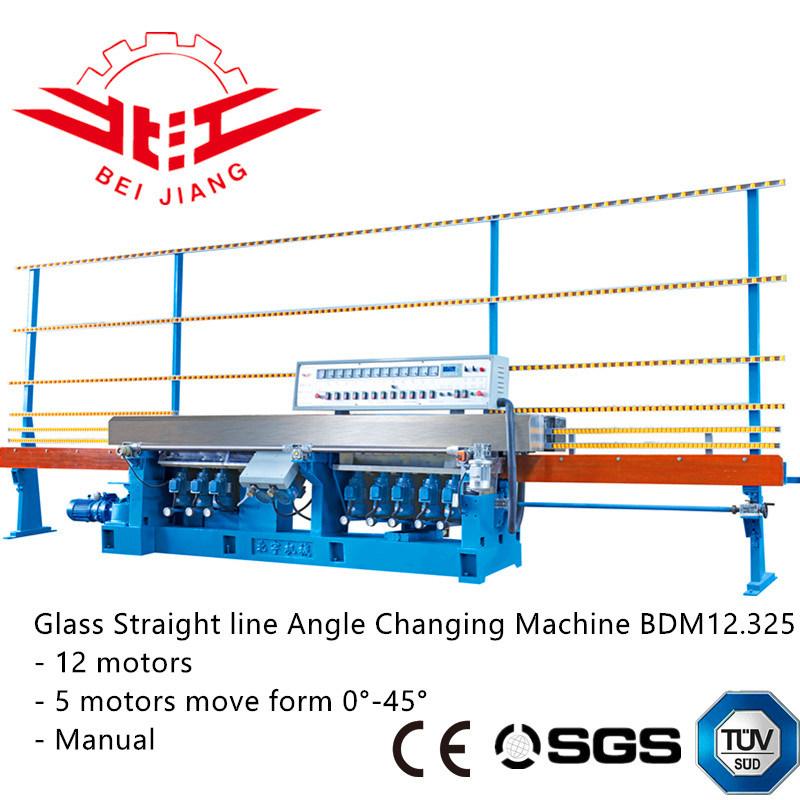 Glass Straight Line Angle Changing Machine 0-45 Degree Edge Polishing Machine (bdm12.325)