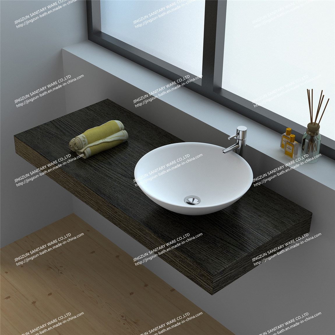 China modern design oval solid surface counter top wash for Bathroom wash basin counter designs