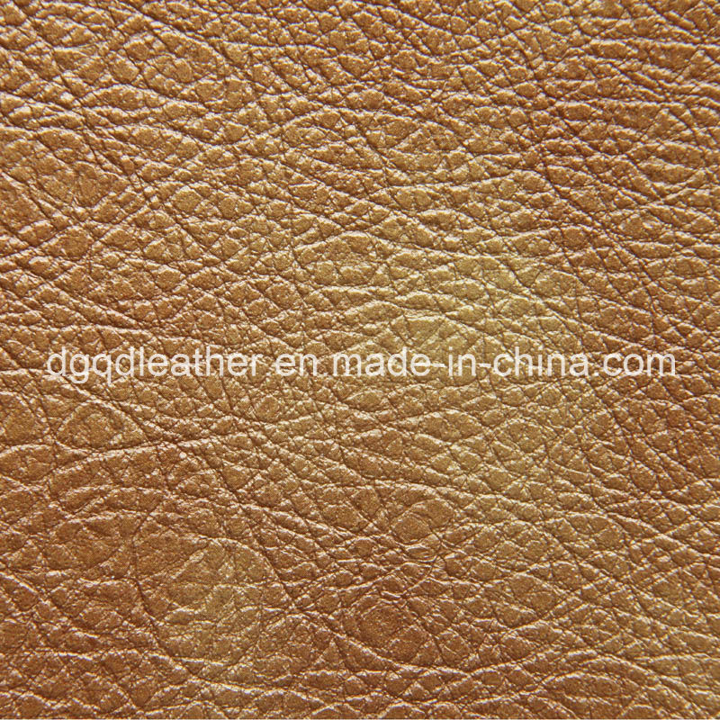 Artificial Leather Good Seam Strength PU Leather (QDL-50253)